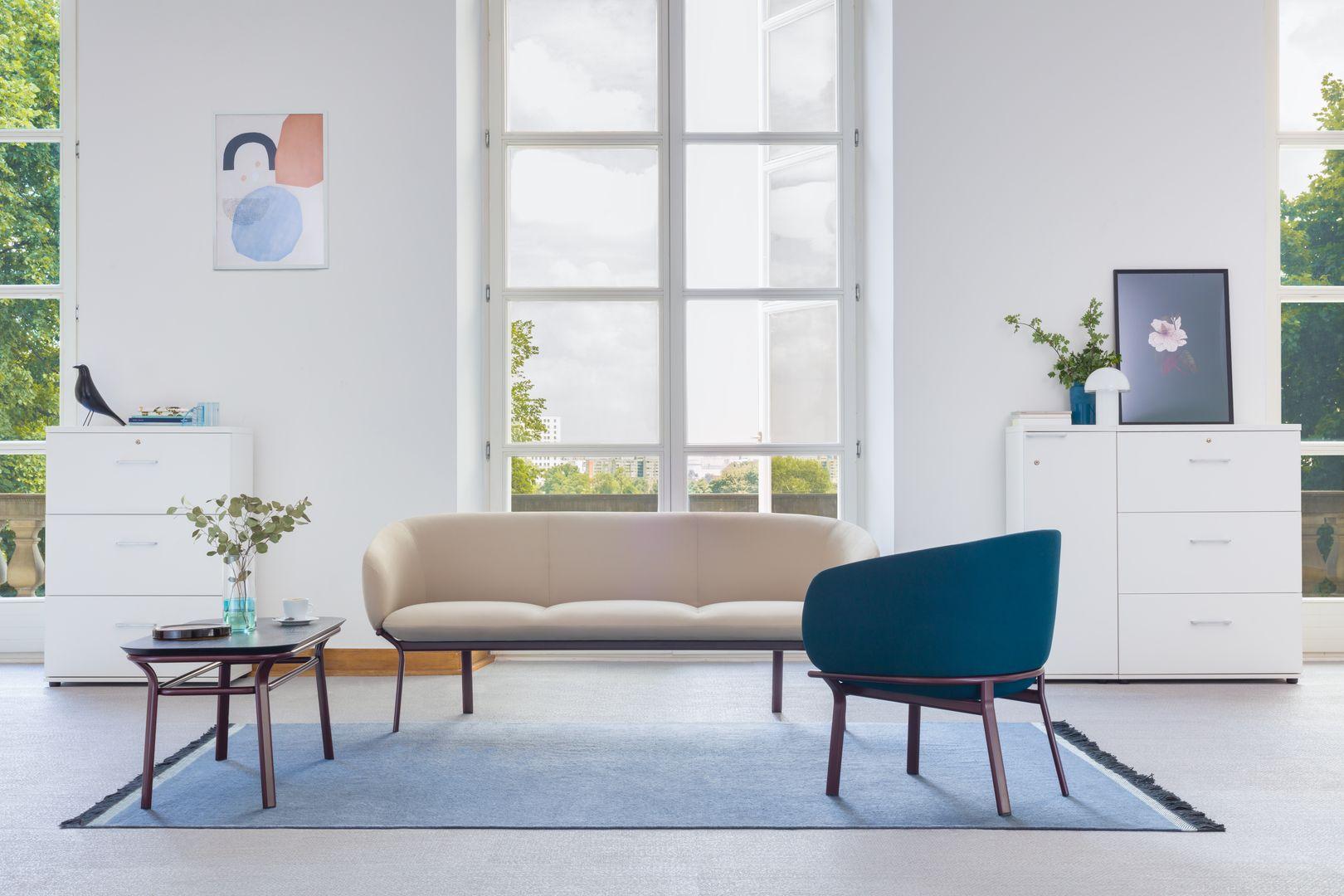 empfangstheken hochglanz lounge wartebereich lang