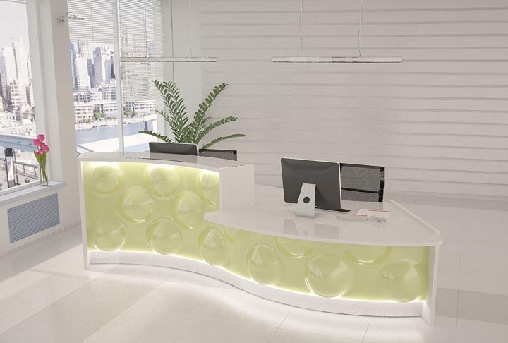 empfangstheken hochglanz stock design pearl gruen