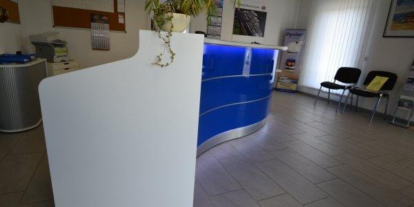 empfangstheken referenzen Yachthafen Marina Ruenthe GmbH Bergkamen seitlich