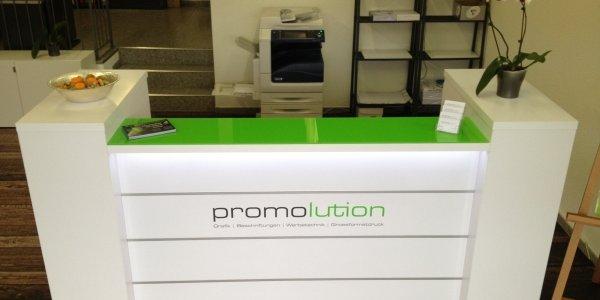 empfangstheken referenzen promolution GmbH Schweiz top