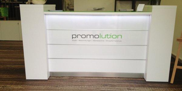 empfangstheken referenzen promolution GmbH Schweiz