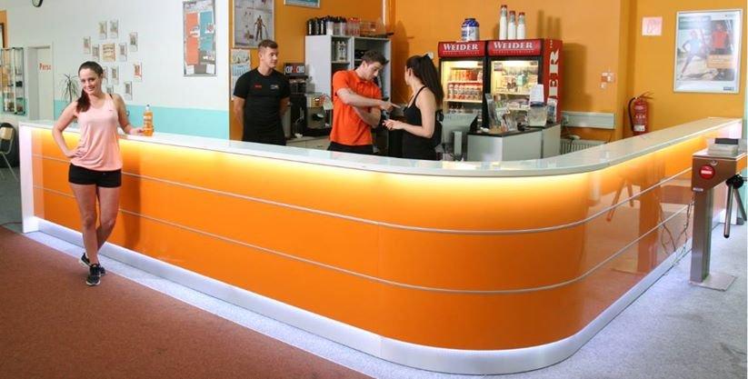 empfangstheken hochglanz orange empfangstheke