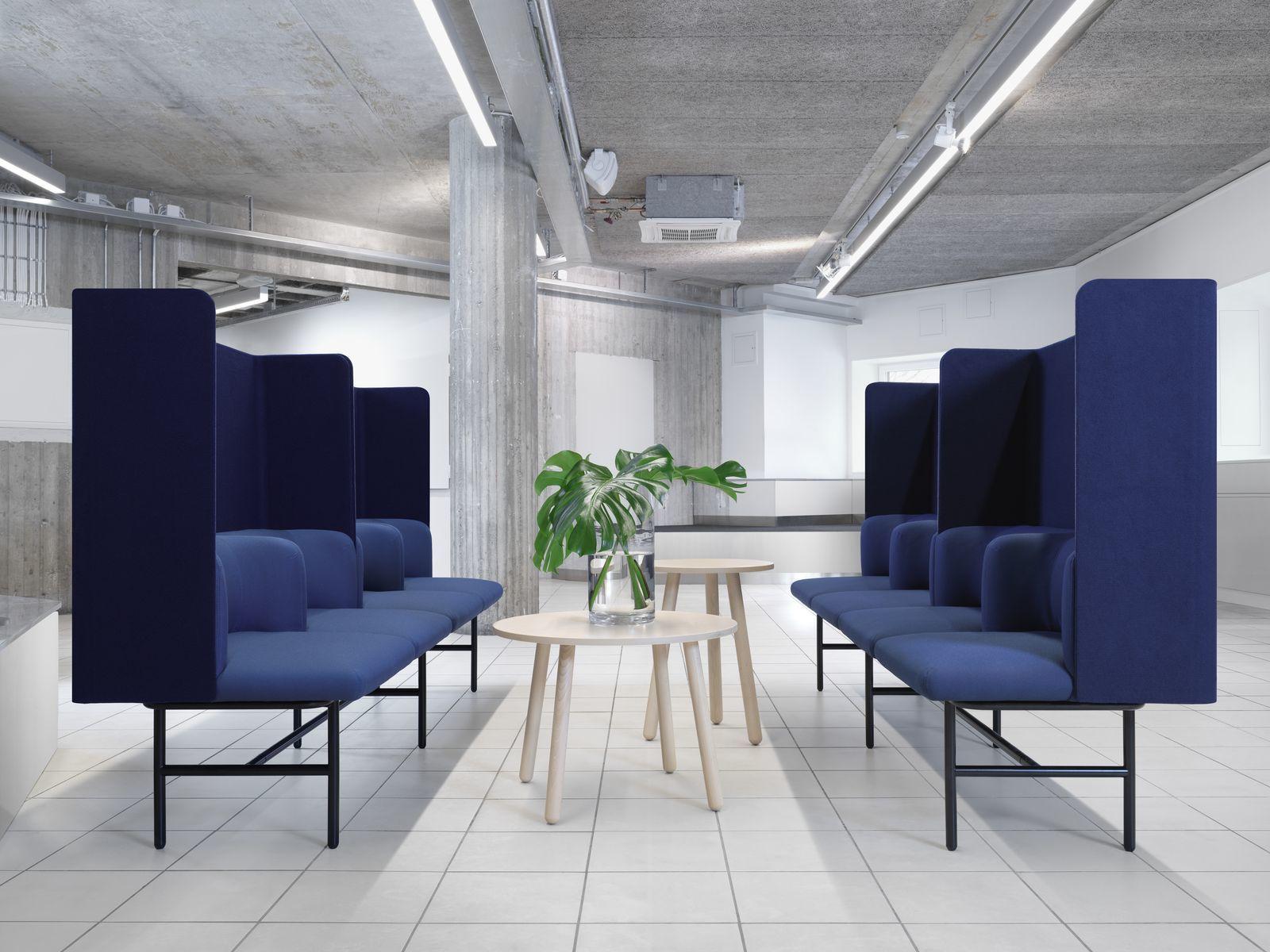 empfangstheken sitzmoebel foyer kanzlei blau schutz