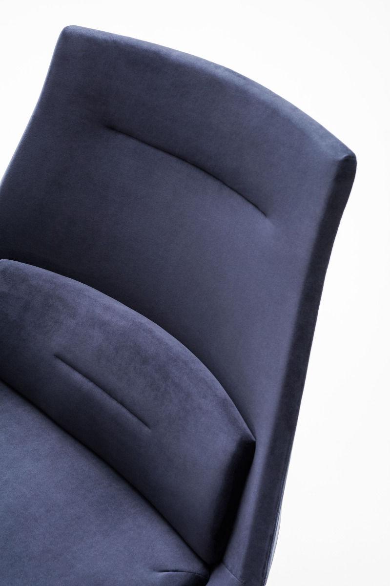 empfangstheken sitzmoebel kanzleisitzmoebel einzelstuhl blau detail