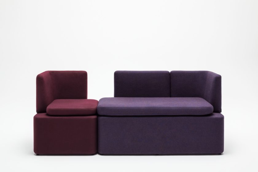 empfangstheken sitzmoebel studiomoebel rot violett