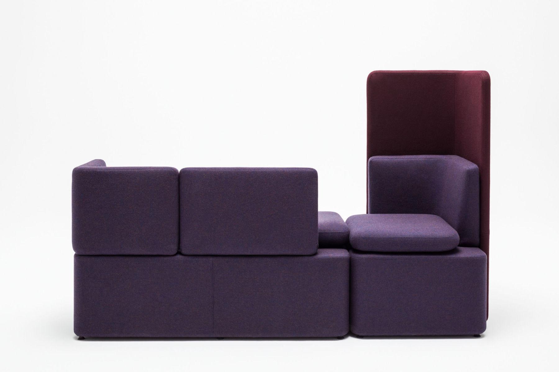 empfangstheken sitzmoebel studiomoebel violett rot kasten back