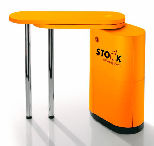 kosmetik empfangstheken verkaufstheken flexy desk gelb