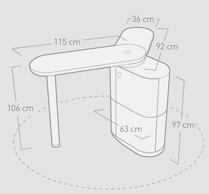 kosmetik empfangstheken verkaufstheken flexy desk maße